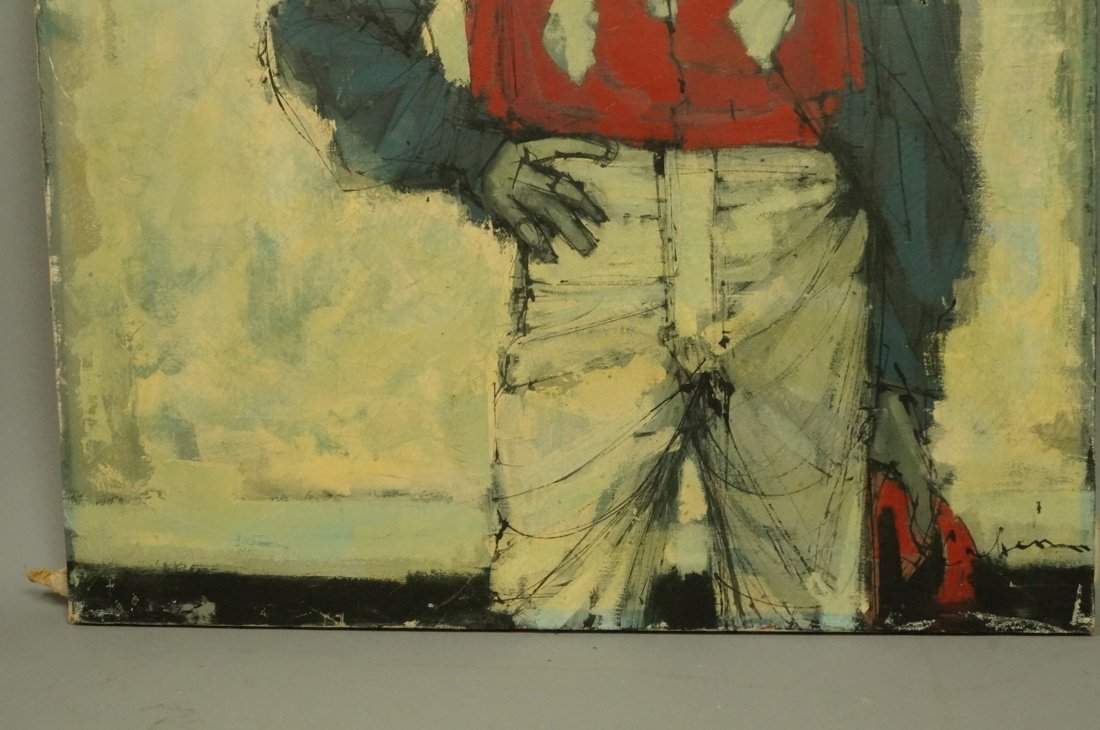 CABANISS Oil Painting. Jockey in red. Signed Mode - 5
