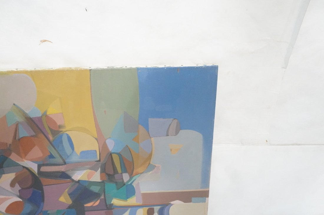 Claude Marangio Cubist Oil Painting. Modernist co - 4