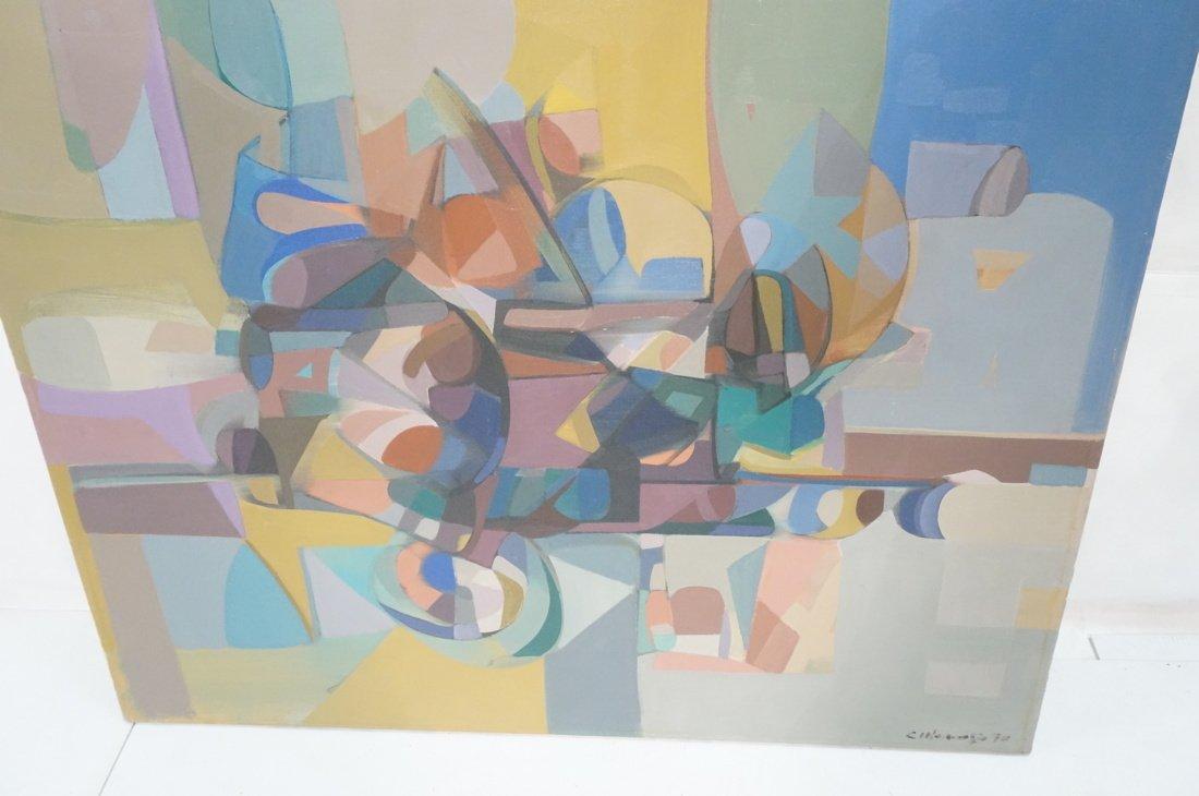 Claude Marangio Cubist Oil Painting. Modernist co - 5