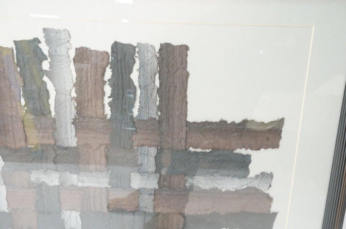 """MARY SIEBERT GABERT Woven Paper Collage Art. """"Int - 2"""