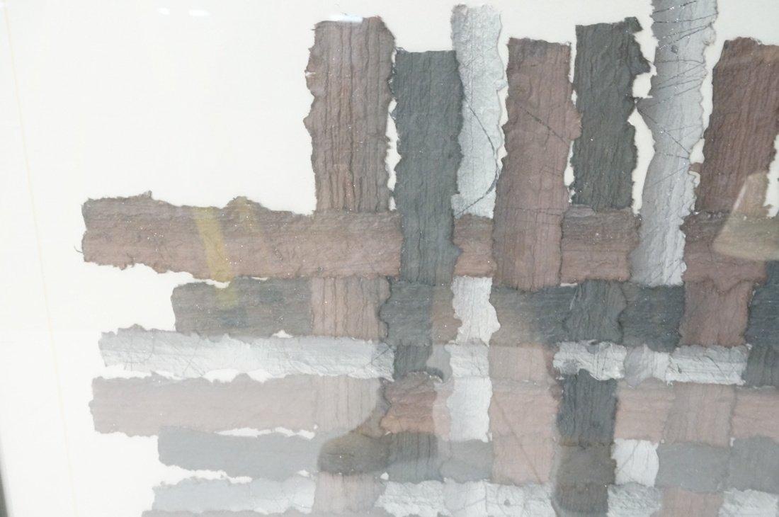 """MARY SIEBERT GABERT Woven Paper Collage Art. """"Int - 3"""