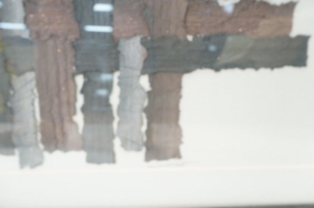 """MARY SIEBERT GABERT Woven Paper Collage Art. """"Int - 5"""