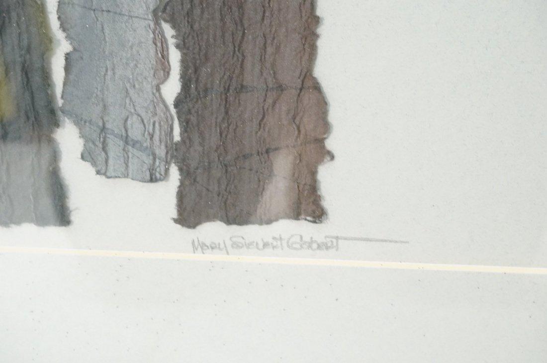 """MARY SIEBERT GABERT Woven Paper Collage Art. """"Int - 6"""