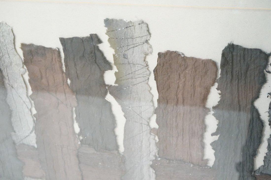 """MARY SIEBERT GABERT Woven Paper Collage Art. """"Int - 8"""