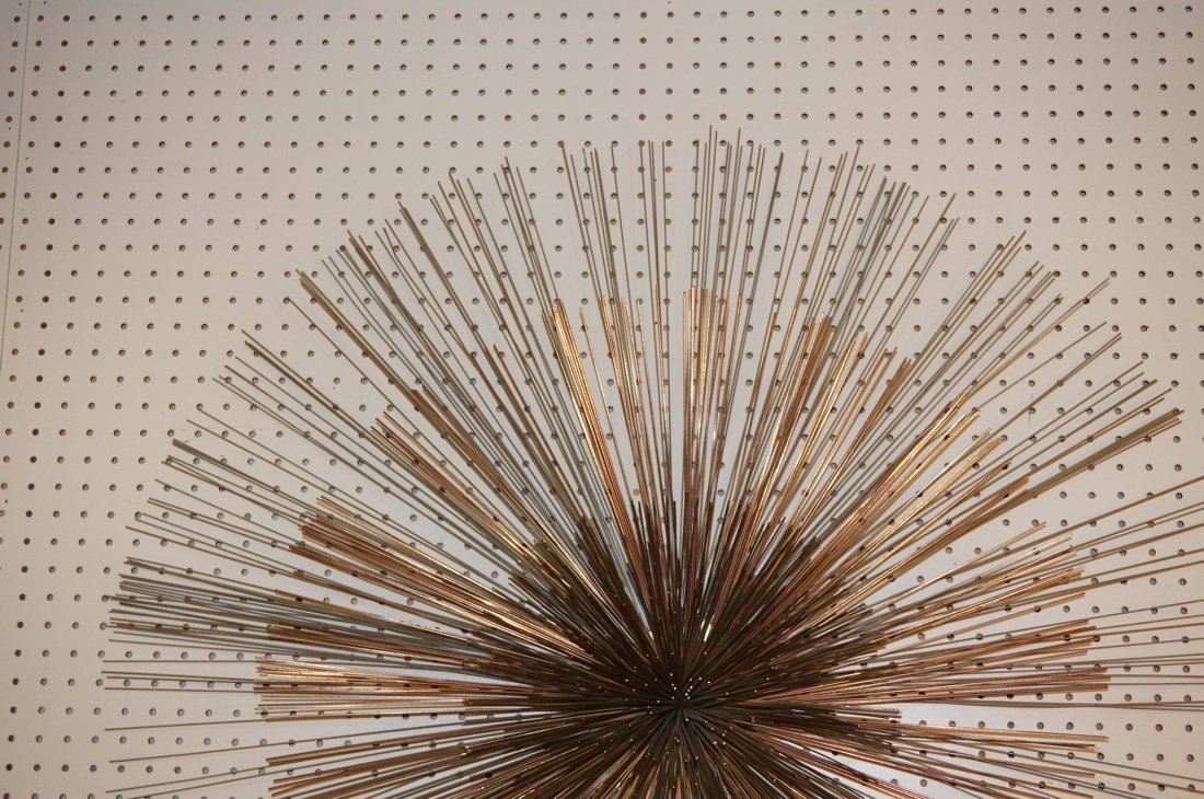 Large C JERE Pom Pom Wire Rod Wall Sculpture. Two - 2