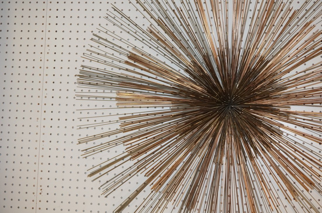 Large C JERE Pom Pom Wire Rod Wall Sculpture. Two - 3