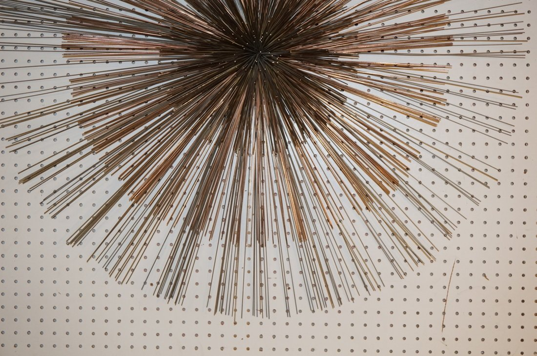 Large C JERE Pom Pom Wire Rod Wall Sculpture. Two - 4