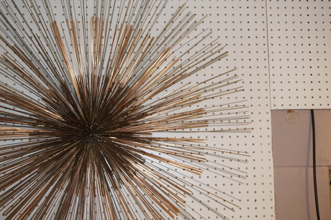 Large C JERE Pom Pom Wire Rod Wall Sculpture. Two - 5