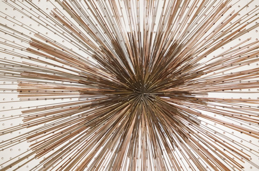 Large C JERE Pom Pom Wire Rod Wall Sculpture. Two - 6