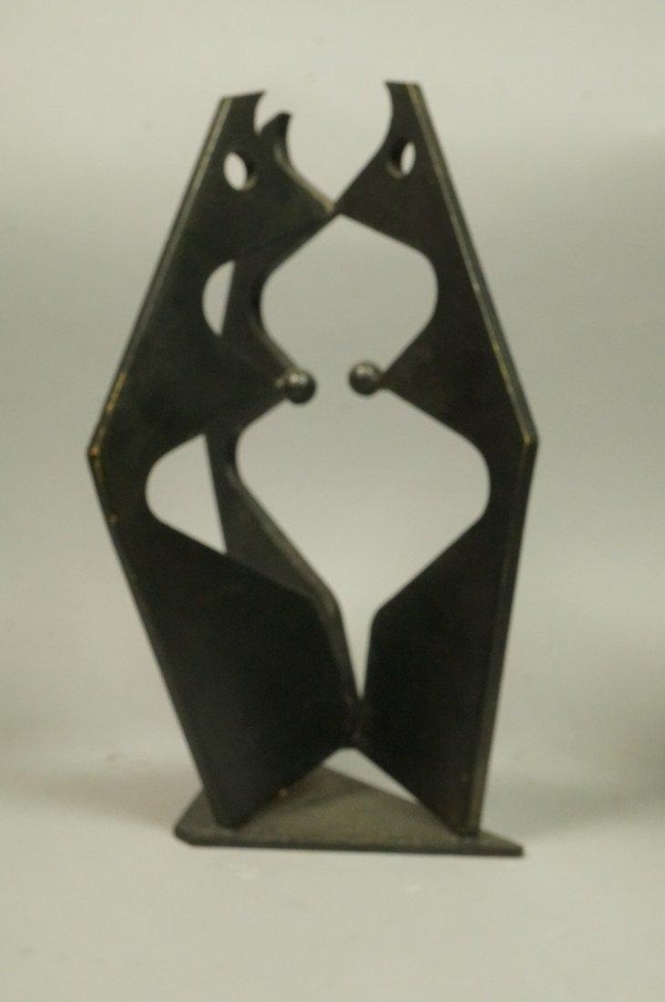 Brutalist Steel Sculpture. Modernist. Three figur - 2