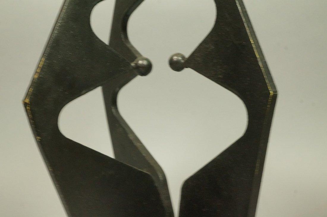 Brutalist Steel Sculpture. Modernist. Three figur - 4