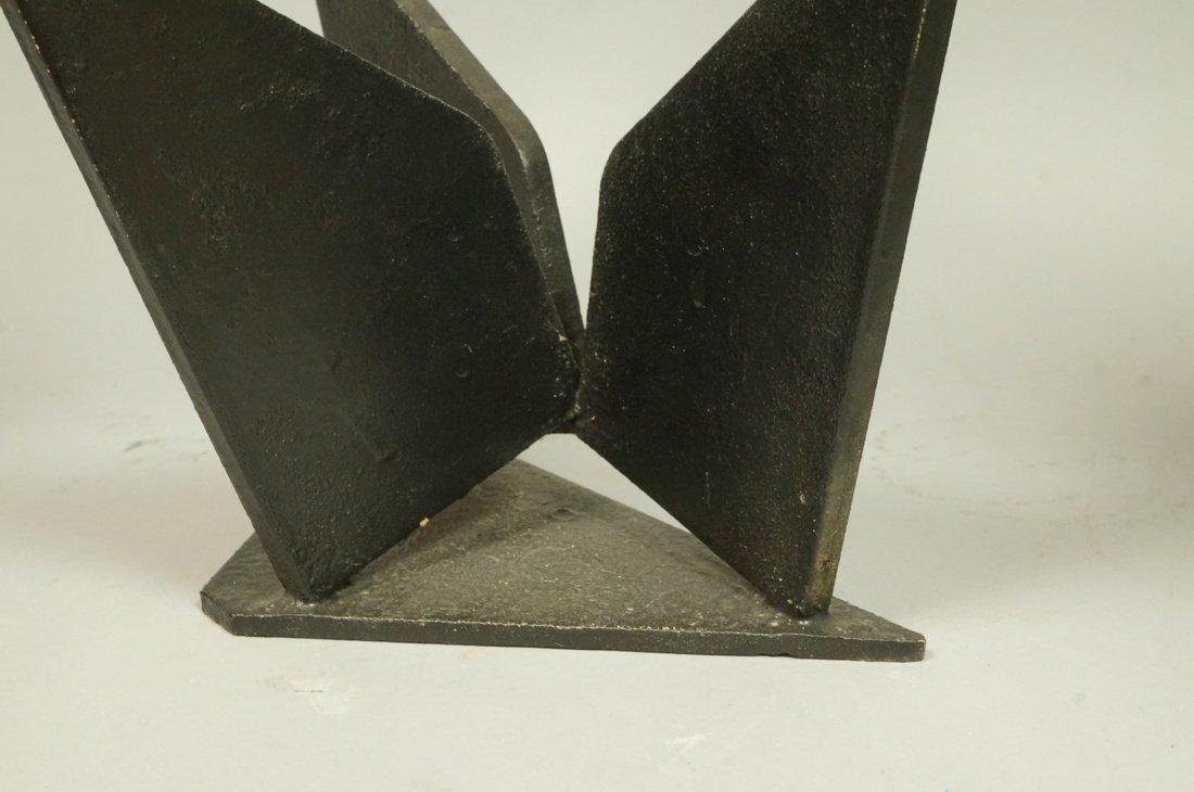 Brutalist Steel Sculpture. Modernist. Three figur - 5