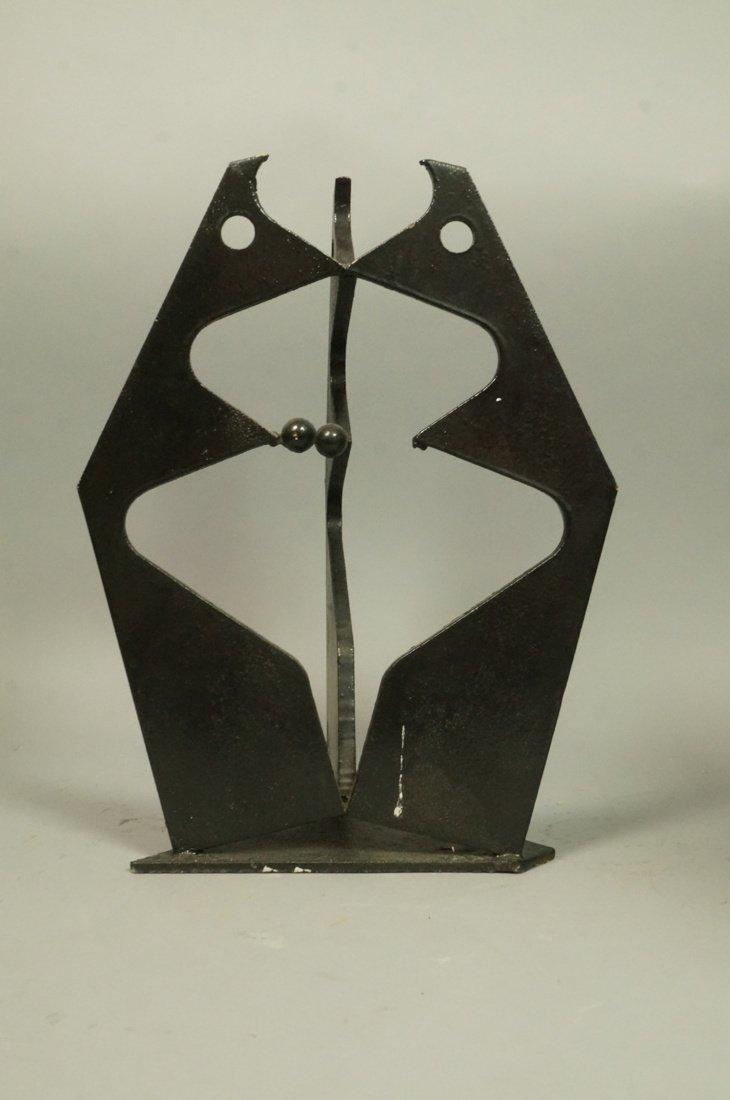 Brutalist Steel Sculpture. Modernist. Three figur - 6