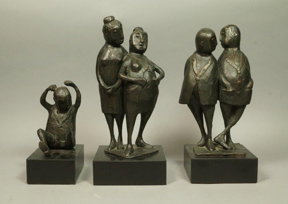 Lot 3 Bronze Figural Sculptures. CLIVIA MORRISON.