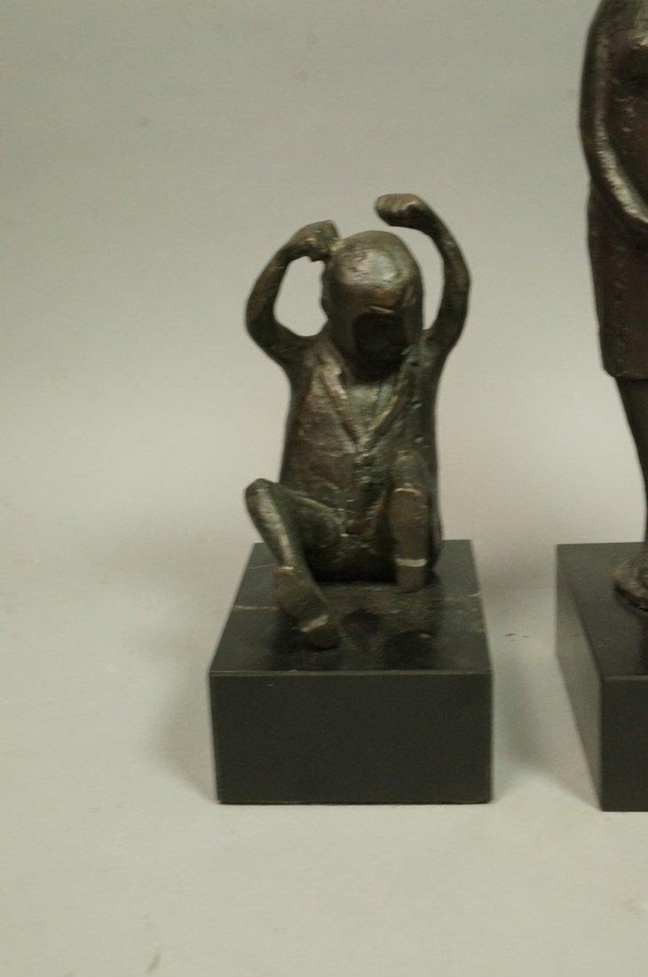 Lot 3 Bronze Figural Sculptures. CLIVIA MORRISON. - 2