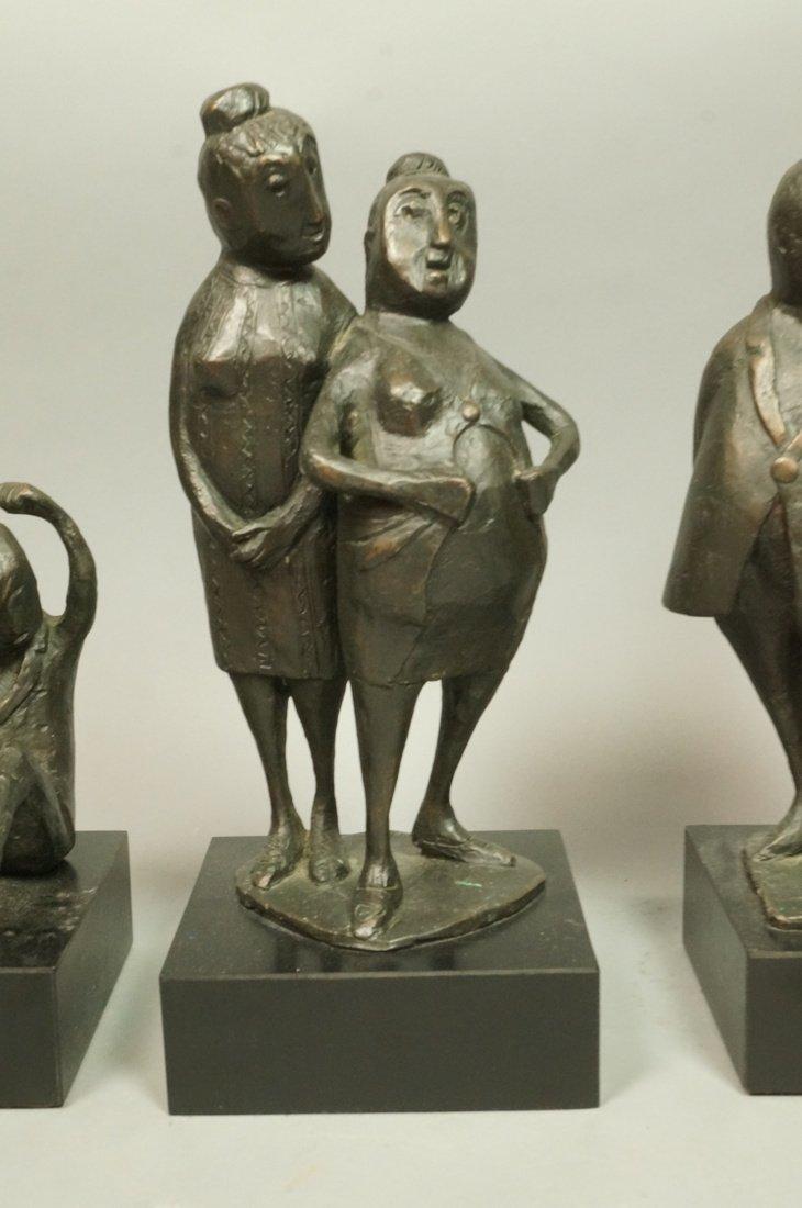 Lot 3 Bronze Figural Sculptures. CLIVIA MORRISON. - 3