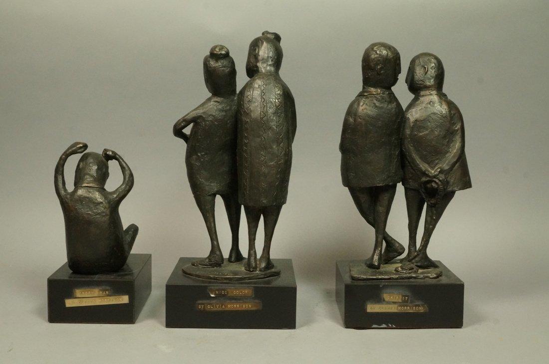 Lot 3 Bronze Figural Sculptures. CLIVIA MORRISON. - 5