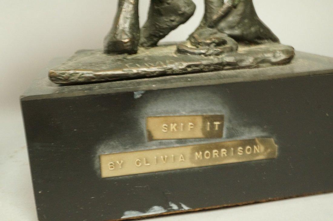 Lot 3 Bronze Figural Sculptures. CLIVIA MORRISON. - 8