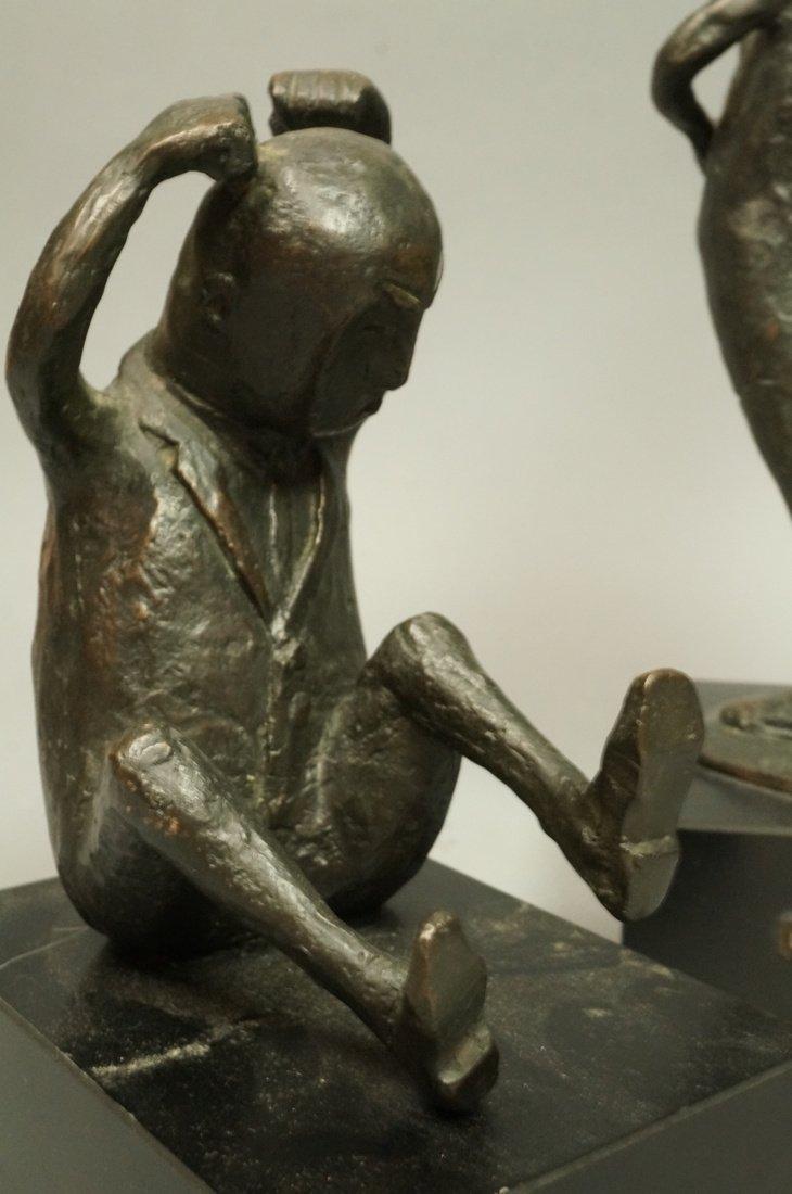 Lot 3 Bronze Figural Sculptures. CLIVIA MORRISON. - 9