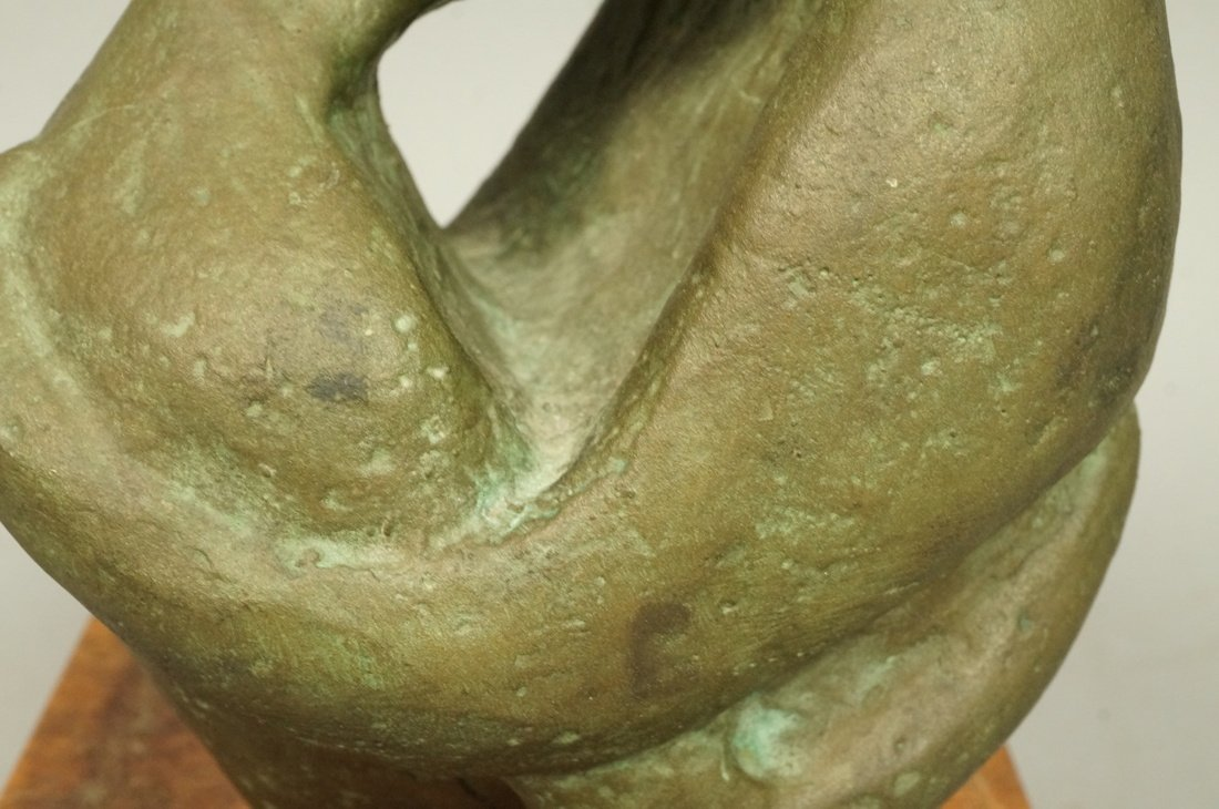 D.A. Signed Bronze Sculpture. Embracing couple. W - 4