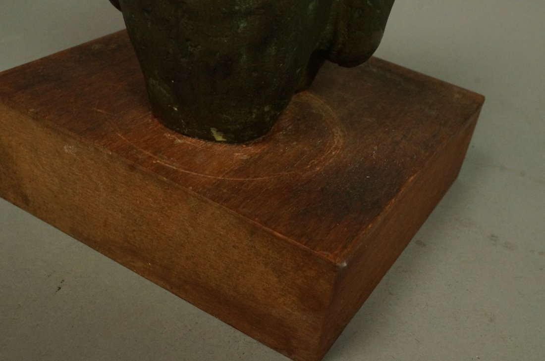 D.A. Signed Bronze Sculpture. Embracing couple. W - 6