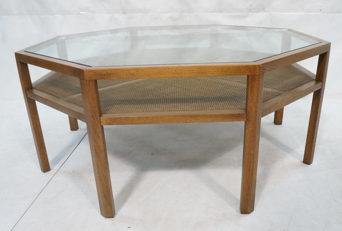 BAKER Octagonal Coffee Cocktail Table. Glass top.