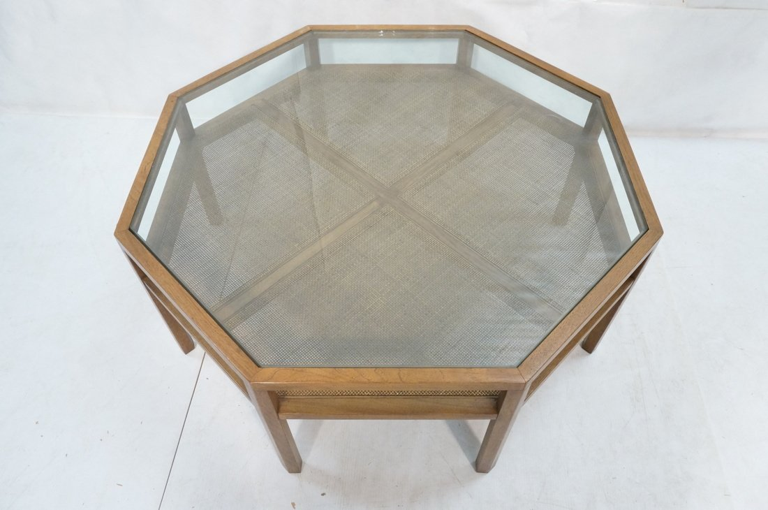 BAKER Octagonal Coffee Cocktail Table. Glass top. - 2