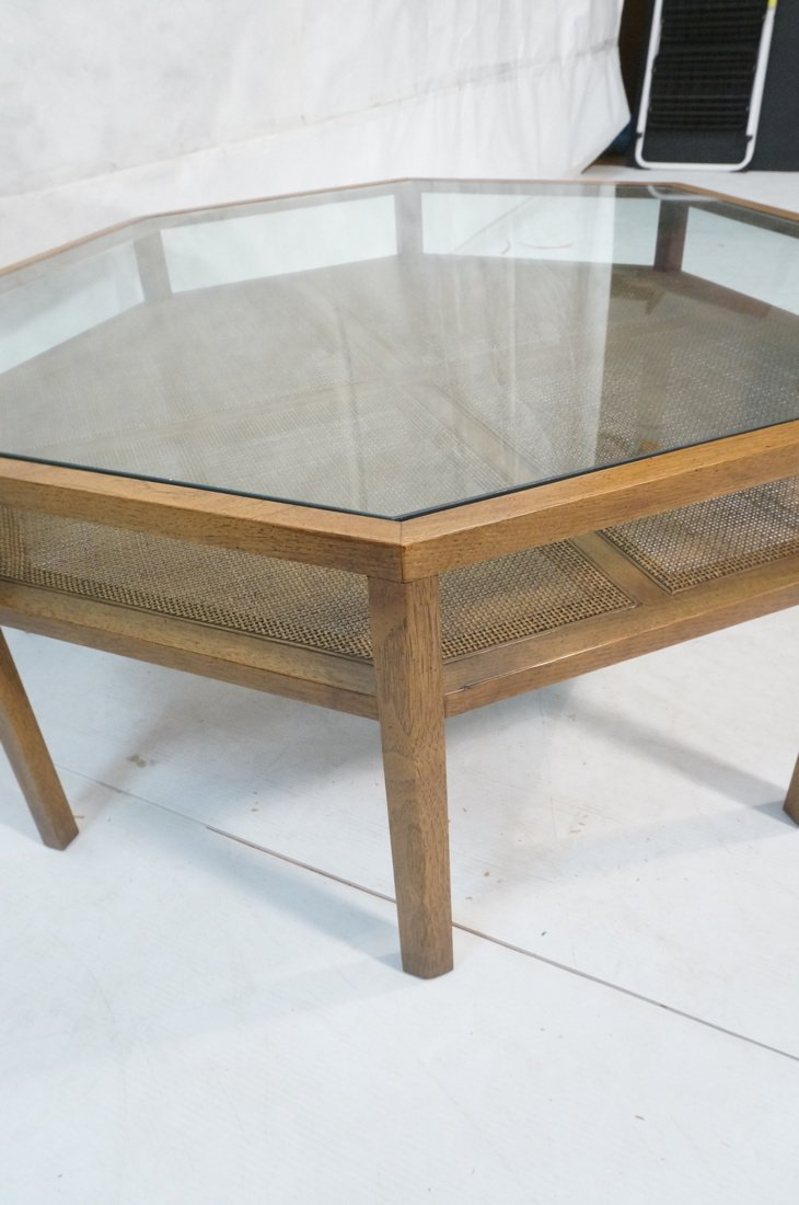 BAKER Octagonal Coffee Cocktail Table. Glass top. - 3