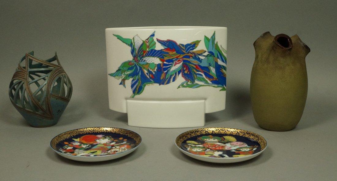 5pc Modernist Ceramic Lot. 1&2) 2pcs ROSENTHAL by