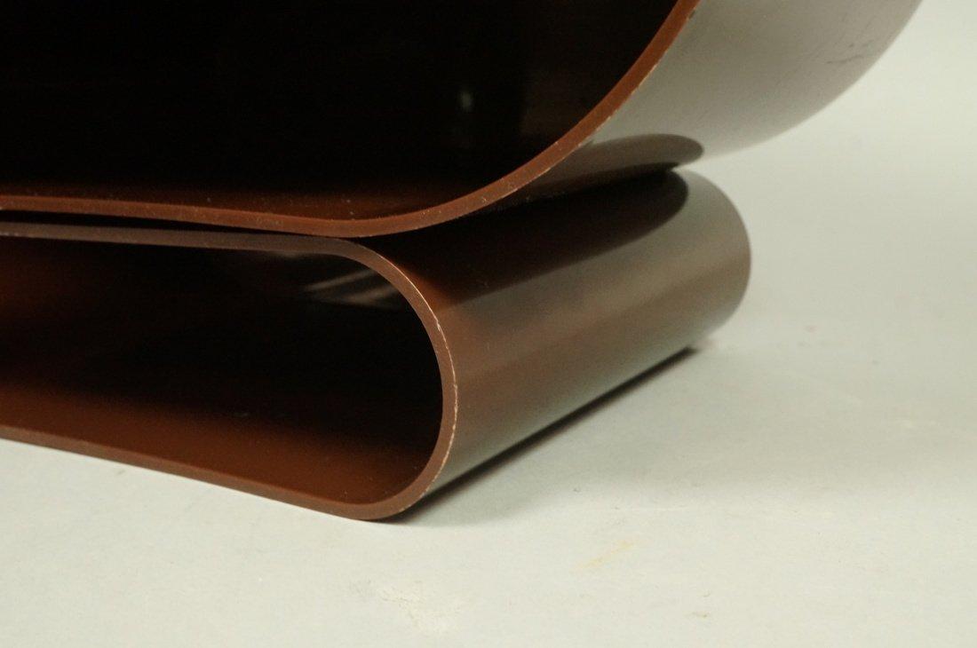 "Pr Brown Molded Plastic ""U"" Form Bins. Modern. Po - 4"