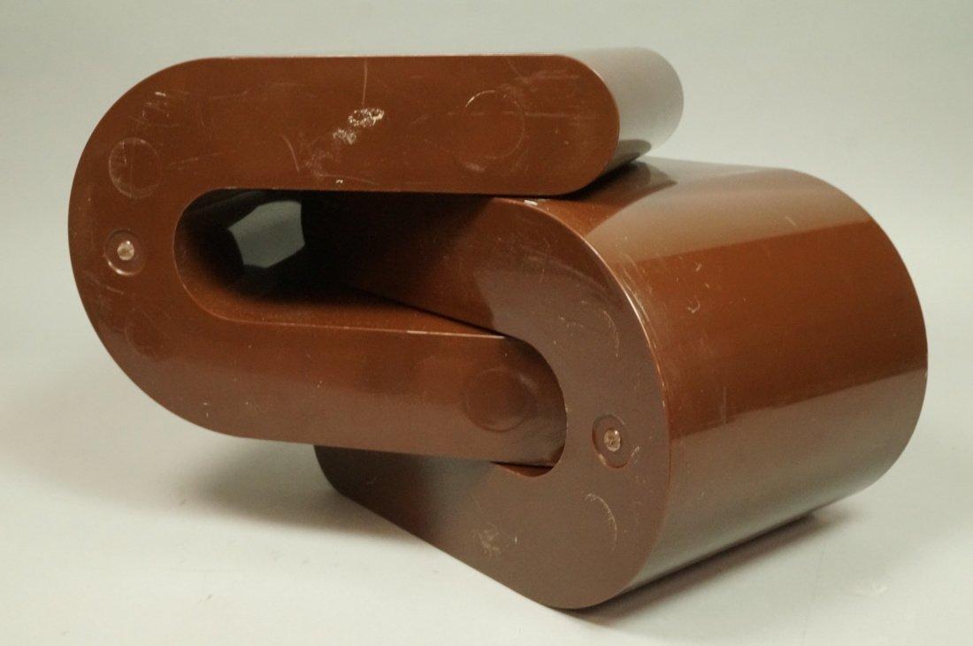 "Pr Brown Molded Plastic ""U"" Form Bins. Modern. Po - 6"