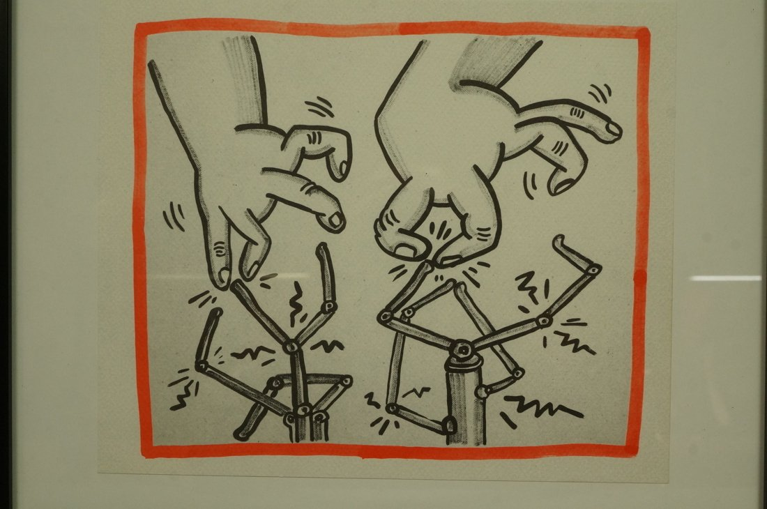 """KEITH HARING Graphic Print. """"Against all Odds"""" No"""