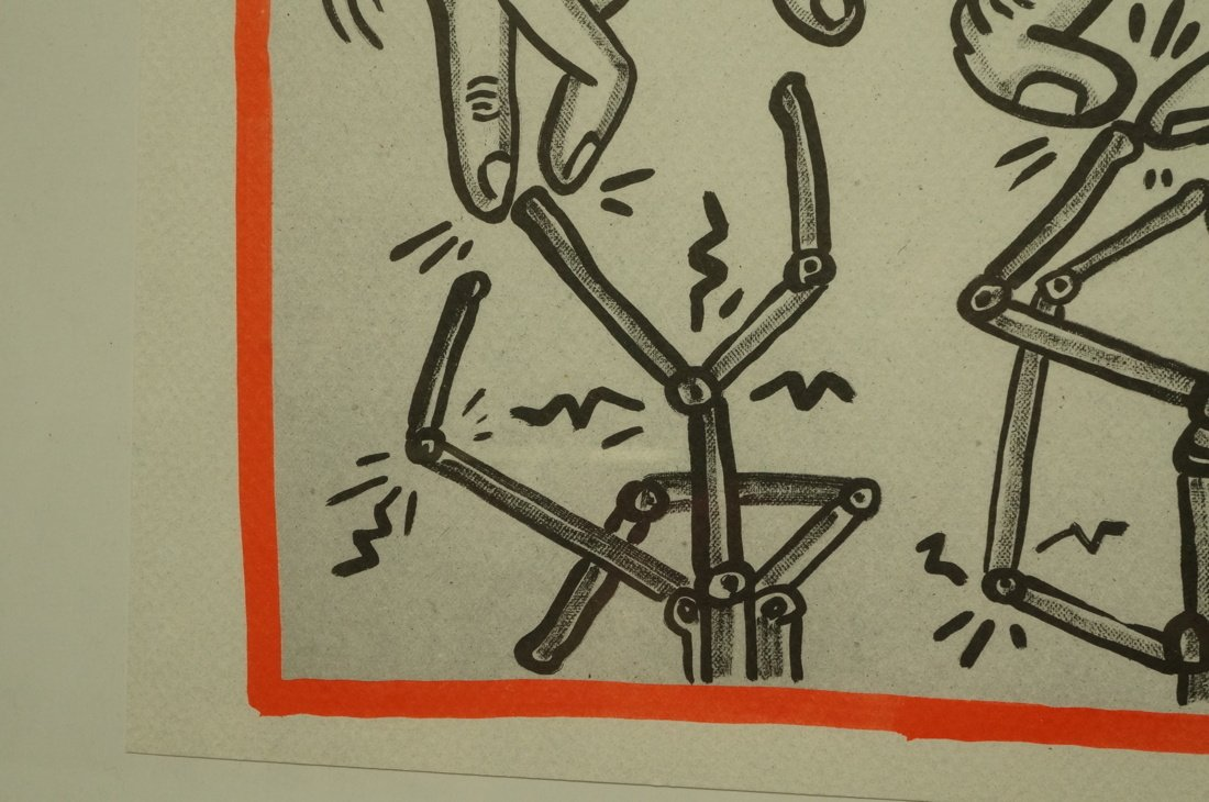 """KEITH HARING Graphic Print. """"Against all Odds"""" No - 4"""