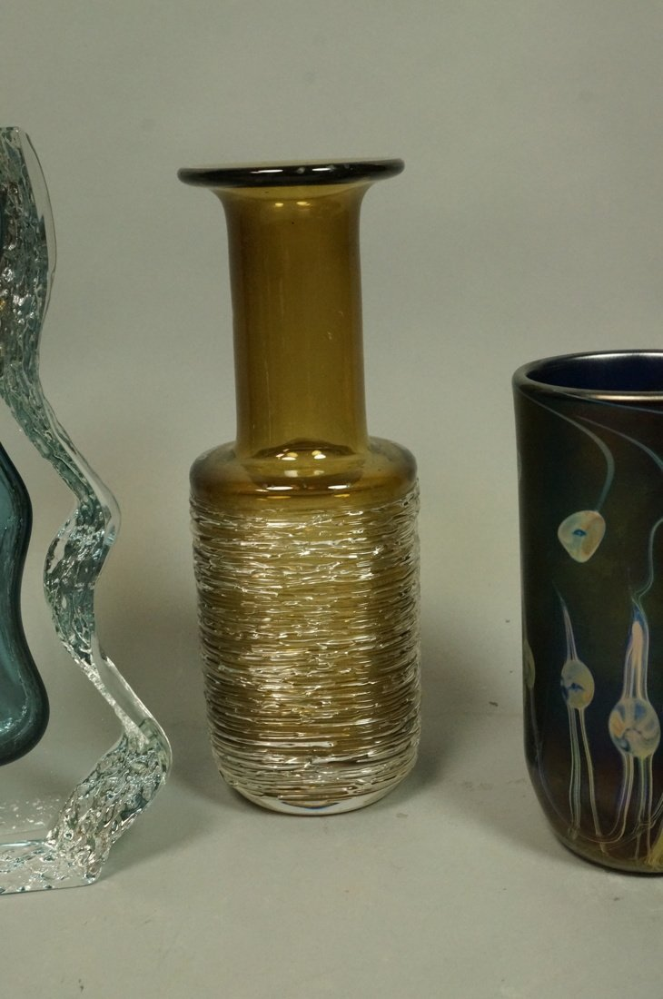 Lot 6pc Art Glass. 1) HANNA BAHRAL Art Glass Slab - 4