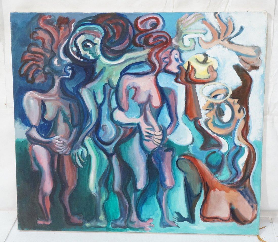 GEORGE CONRAD Modernist Oil Painting. Nude standi