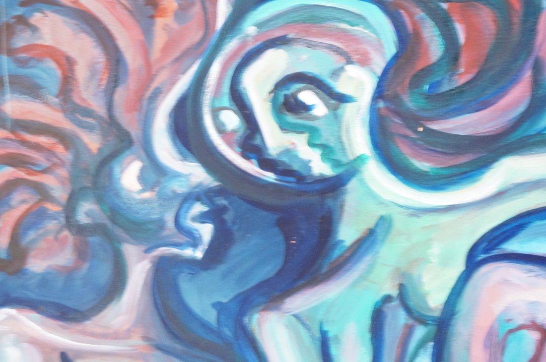 GEORGE CONRAD Modernist Oil Painting. Nude standi - 4