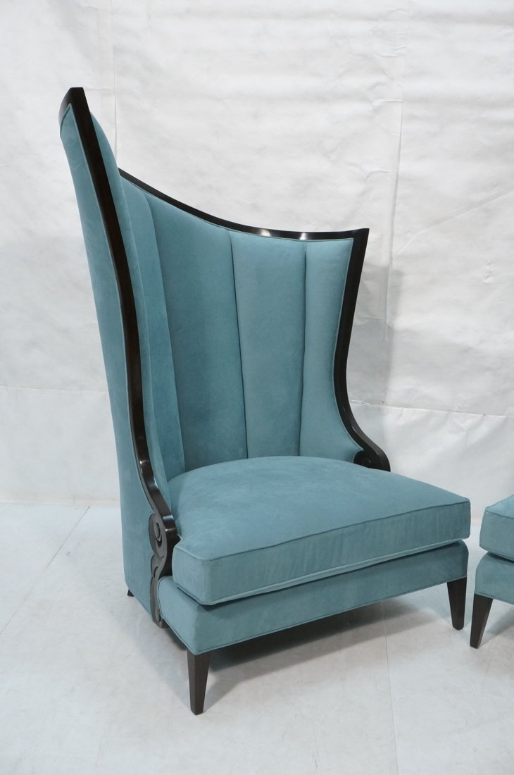 Pr Decorator Oversized Ebonized Chairs. Dramatic - 3