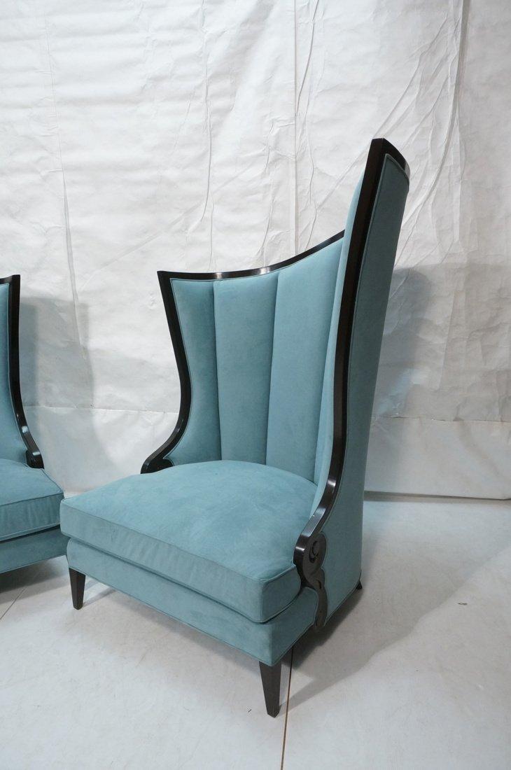 Pr Decorator Oversized Ebonized Chairs. Dramatic - 4