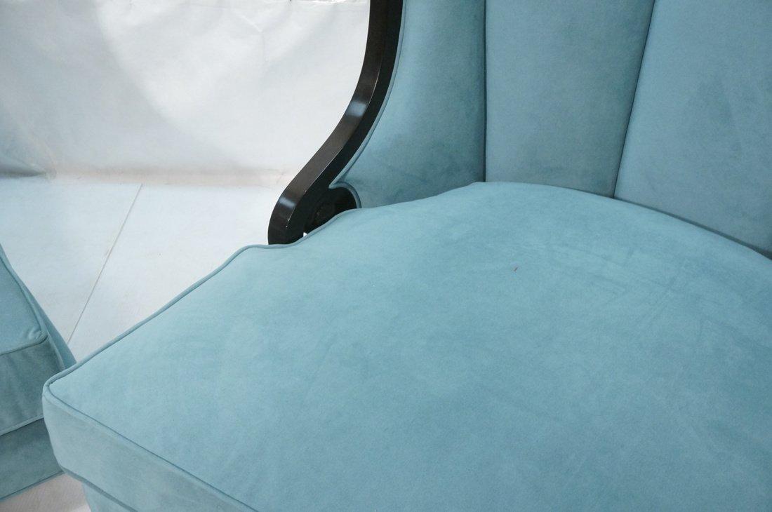 Pr Decorator Oversized Ebonized Chairs. Dramatic - 6