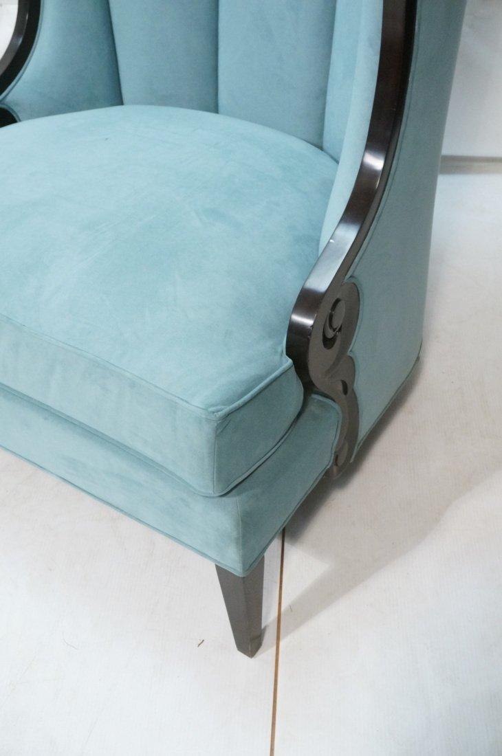 Pr Decorator Oversized Ebonized Chairs. Dramatic - 7