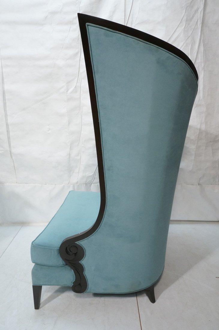 Pr Decorator Oversized Ebonized Chairs. Dramatic - 9