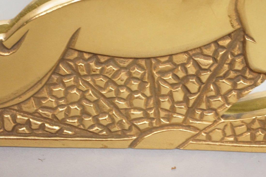 Brass Art Deco style Wall Mirror. Stylized deco f - 6