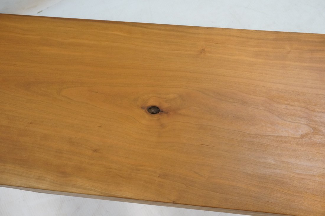 TOM FERRIE Natural Cherry Slab Bench. One raw fre - 6