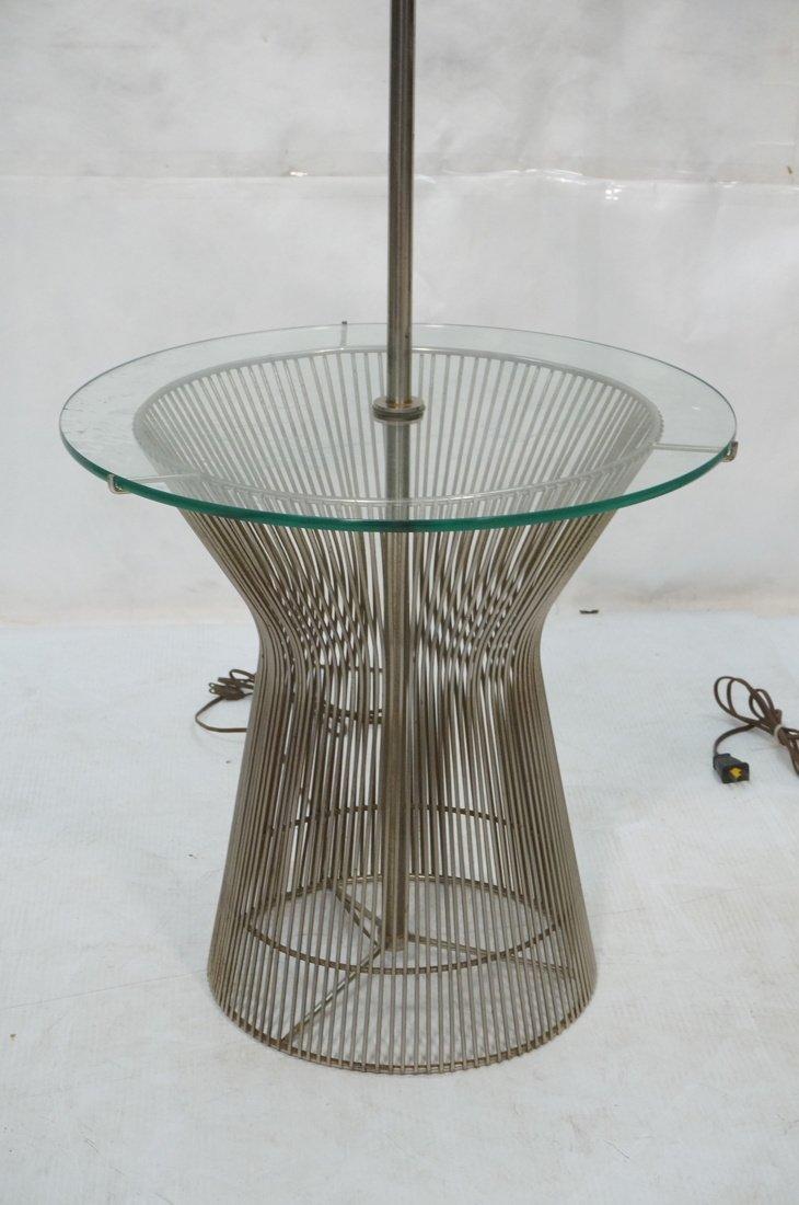 Pr WARREN PLATNER style Lamp Tables. Chromed rod - 2