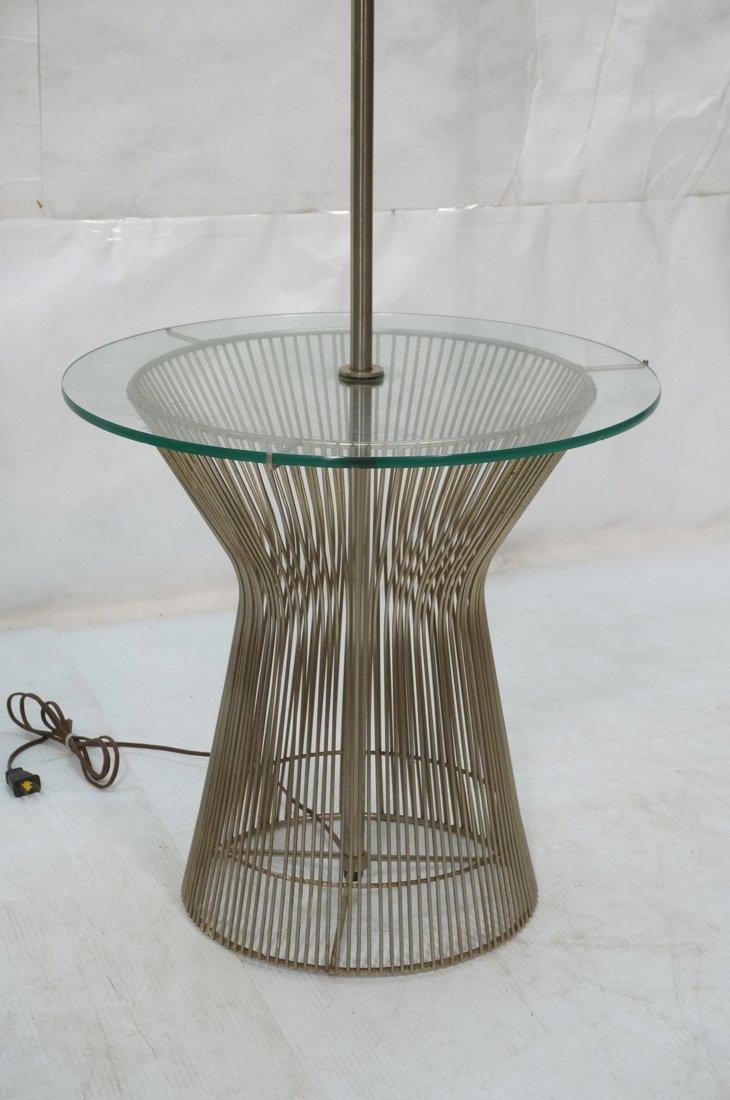 Pr WARREN PLATNER style Lamp Tables. Chromed rod - 3