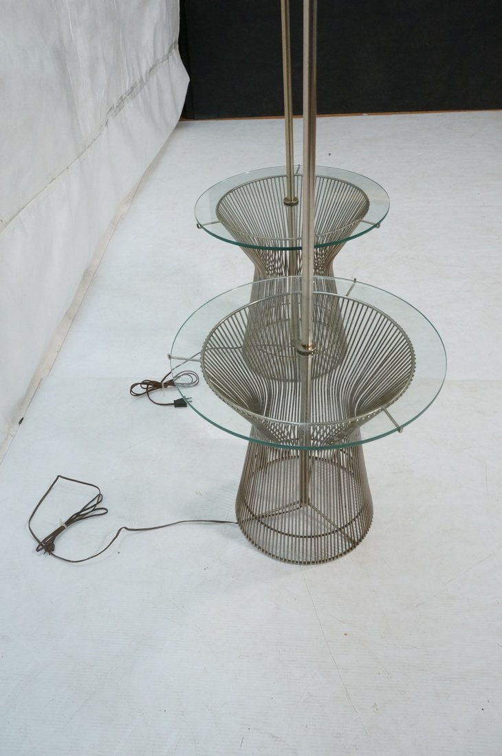 Pr WARREN PLATNER style Lamp Tables. Chromed rod - 6