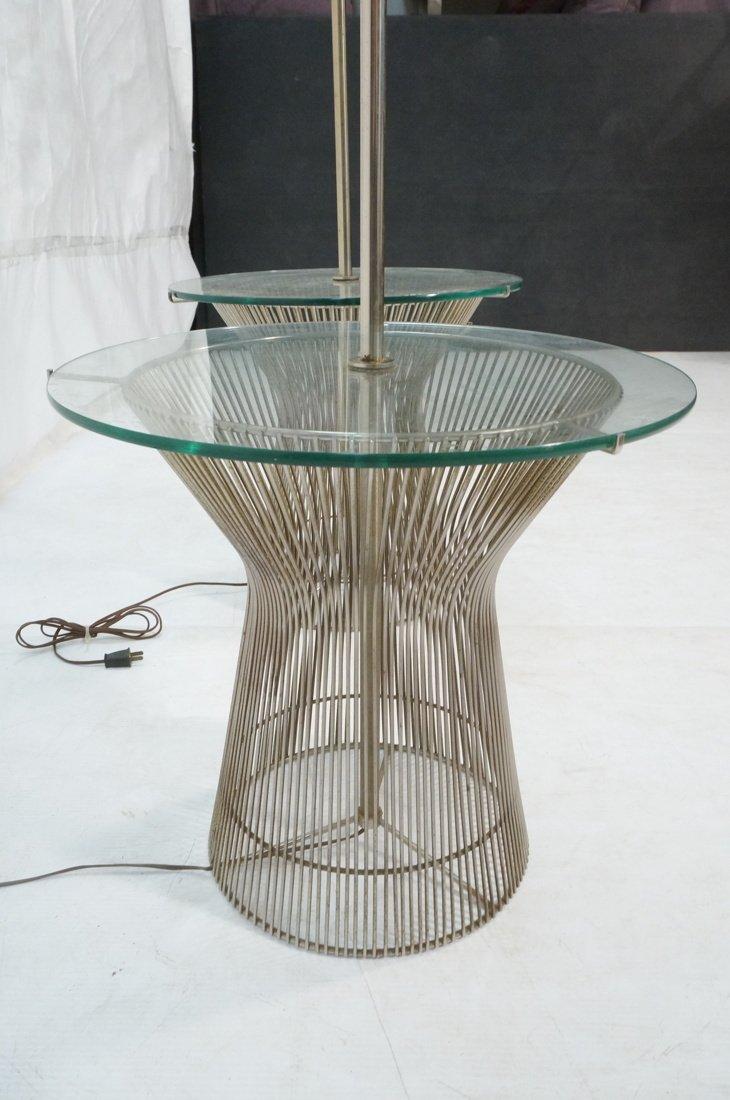 Pr WARREN PLATNER style Lamp Tables. Chromed rod - 7