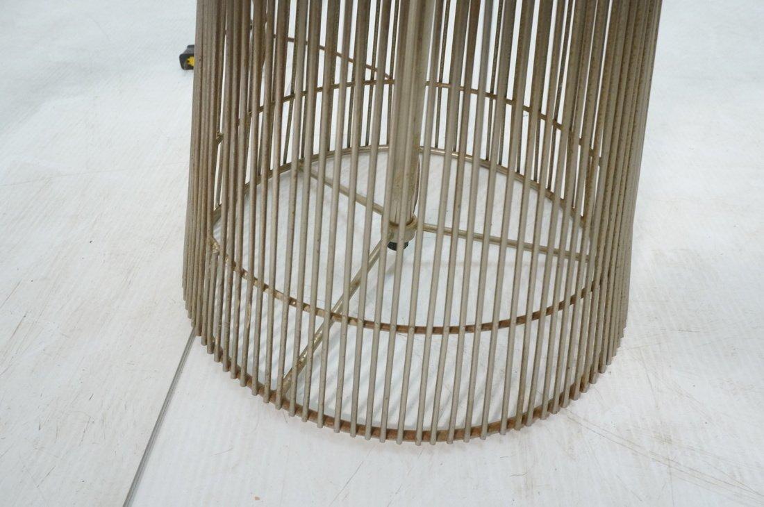 Pr WARREN PLATNER style Lamp Tables. Chromed rod - 8