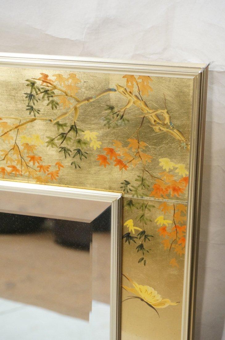 LA BARGE Eglomise Framed Mirror. Asian design wit - 2