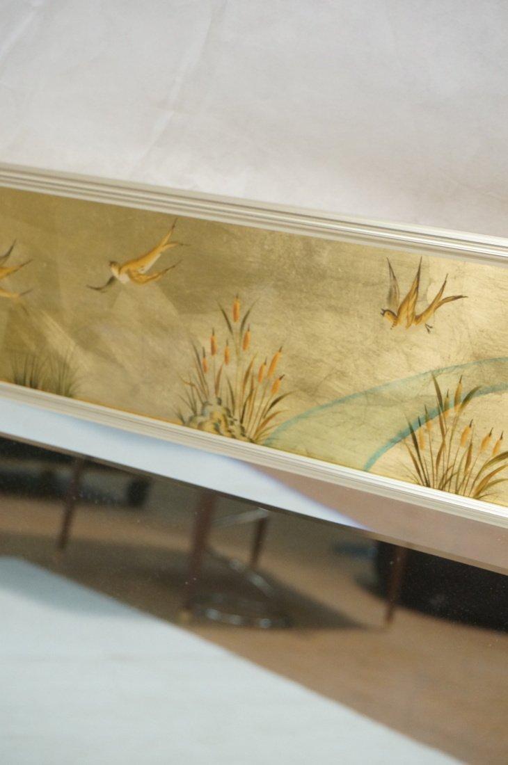 LA BARGE Eglomise Framed Mirror. Asian design wit - 4
